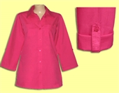 Distinct Apparel for Mili® Roll Sleeve Blouse Sizes S to 3X #41.2004