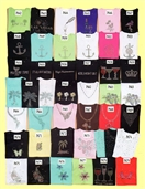 Mili Designs® Embellished Short  Sleeve T Shirts Available in Size XS to 3X #44.p6