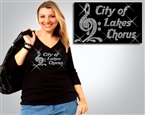 City of Lakes Rhinestone Tee Sizes XS to 3X