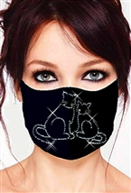 100% Cotton 2 Layer mask with filter pocket #M.2cats
