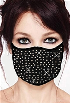 100% Cotton 2 Layer mask with filter pocket #M.ab scattered