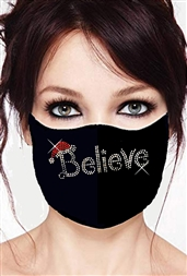 100% Cotton 2 Layer mask with filter pocket #M.believe