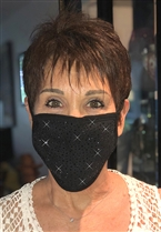 100% Cotton 2 Layer mask with filter pocket #M.black scattered
