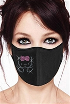 100% Cotton 2 Layer mask with filter pocket #M.cute kitty
