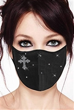 100% Cotton 2 Layer mask with filter pocket #M. Cross