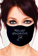 100% Cotton 2 Layer mask with filter pocket #M. wlgo