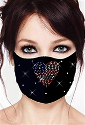 100% Cotton 2 Layer mask with filter pocket #M.pat heart