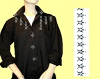 Mili Designs® Blouse Available in Sizes S to 3X #OT.41.S1301