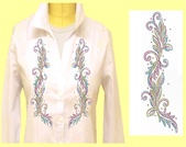 Mili Designs® Blouse Available in Size S to 3X #OT.41.S2144